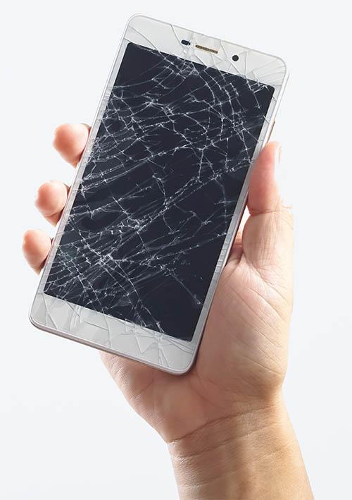 Samsung Handy mit Displayschaden